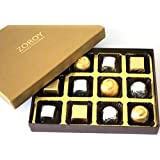ZOROY Assorted Chocolate Luxury Gold Small 12 Assorted Chocolates