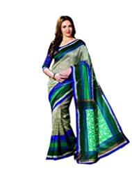 DivyaEmporio Women's Traditional Georgette Saree/Sari With Unstitched Blouse (Free Size) - B00SH1YC62