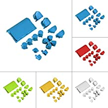 Alcoa Prime Full Chrome Button Replacement Mod Game Kit For Playstation 4 PS4 Controller Joystick Video Game Playstation Blue