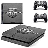 Elton FC Barcelona 1899 Theme Skin Sticker Cover For PS4 Console And Controllers