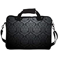 """Snoogg Abstract Grey Pattern 2 12"""" 12.5"""" 12.6"""" Inch Laptop Notebook SlipCase With Shoulder Strap Handle Sleeve..."""