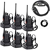 Huixinda BaoFeng BF-888S Two Way Radio (Pack Of 6) With USB Programming Cable + Driver CD