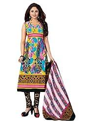 Sonal Trendz Multi Color Pure Cotton Dress Material.Casual Wear Pure Cotton Suit. - B018GEJ5Y8