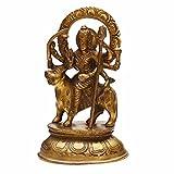 Indian Arts Shop Medium Durga Brass (7.62 Cm X 12.19 Cm X 19.81 Cm, )
