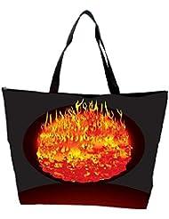 Snoogg Burning Planet Vector Waterproof Bag Made Of High Strength Nylon
