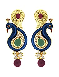 Peora Gold Plated Peacock Jhumki Earring For Womens (PFE52)