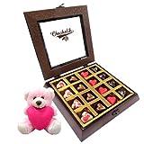 Magical Heart Chocolates With Teddy - Chocholik Belgium Chocolates