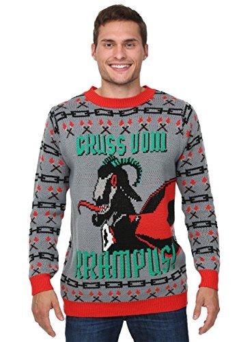 Krampus Christmas Sweater - L