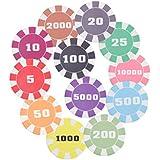 Magideal Casino Poker Chips Poker Game Board Game Ceramic Counters 25 Dollar