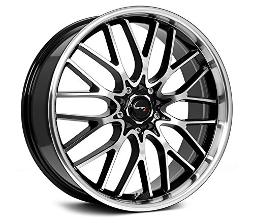 Drifz Vortex 18×8 Machined Black Wheel / Rim 5×4.5 & 5×120 with a 35mm Offset and a 74.10 Hub Bore. Partnumber 302MB-8805735
