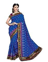 De Marca Blue Dupion Silk Designer Jai2021 Saree