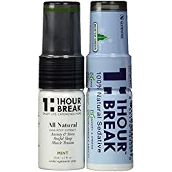 Kava Kava Tincture Spray by 1Hour Break® (2 PACK) - All Natural Relaxation and Stress reduction & Instant Anxiety Relief - Original Formula