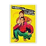 PosterGuy Andaz Apna Apna Aamir Khan Salman Khan Do Dost Ek Pyaale Quote Pop Art Illustration Poster (A4)
