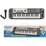 Venus-Planet Of Toys, Canto 37 Key Synthesizer Multi-function Electronic Keyboard Play Piano With Microphone Battery Operated Toy For Kids (Multicolour)