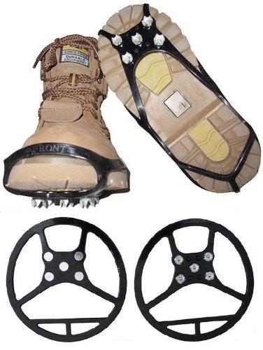 Schuhspikes 39 - 44 Grösse L Spikes NEU Rutschfest Schuhe Gummi Kinder Aufsatz schwarz Metall Schuh Schneeschuh