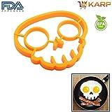 KARP™ Skull Shape Silicone Fried Egg Mold Pancake Rings, Non Stick Bakeware Accessories Kitchen Tools,BPA Free...
