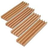 Premium Beech Wood Domino Racks / Trays - Set of 4