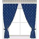 Tottenham Hotspur FC Football Team Repeat Crest Pair of Curtains - 54 inch drop