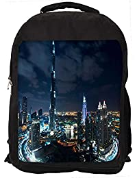 """Snoogg Winter In Dubai Casual Laptop Backpak Fits All 15 - 15.6"""" Inch Laptops"""