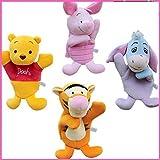 Disney Winnie The Pooh And Friends 4pcs Set Plush Hand Puppets