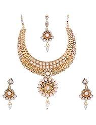 Nimble Golden Metal Choker Necklace Set For Women - B00XVML5DK