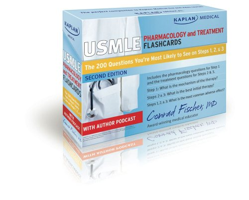 Kaplan Medical USMLE Pharmacology and Treatment Flashcards: The 200 Questions You're Most Likely to See on Steps 1, 2 & 3