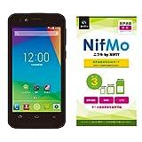 NIFTY FREETEL priori2 3G ブラック 【NIFTY NifMo 音声通信専用SIMカード】セット PRIO23G(1410PP156)