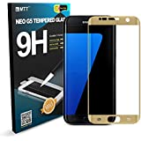 MTT® Full Body Edge To Edge 3D Curved Tempered Glass For Samsung Galaxy S7 Edge (2016) (Gold)