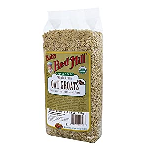 Bob's Red Mill Organic Oats Whole Groats, 29-Ounce (Pack of 4)