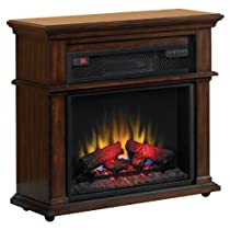 Duraflame Infrared Rolling Fireplace with Blue Flame Effect