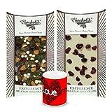 Chocholik Luxury Chocolates - Delicious Combination Of White & Dark Chocolate Bars With Love Mug