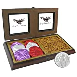 Chocholik Premium Gifts - Rocking Gift With Almonds & Belgium Chocolate Rocks With 5gm Pure Silver Coin - Diwali...