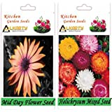 Alkarty Mid Day And Helichrysum Mixed Flower Seeds Pack Of 20 (Winter)