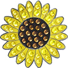 Bella Crystal Collection-USA Sunflower Hat Clip Set