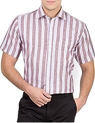 Arihant Men's 40s Lea Linen-100% Formal Half Sleeve Shirt - B00XEBD07M