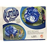 51 Jumbo Ball Inflatable Bouncer Hold Up To 150 Lbs Bounce Roll Tumble Spin Blue