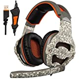 SADES 807 3.5mm Jack Wired Gaming Headset Over The Ear Headband Headphone For New Xbox One PS4 PC Laptop Mac IPad...