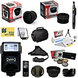 47th Street Photo Best Value Advanced Lens Kit For The Canon EOS REBEL (T5i T4i T3i T2i T1i XT XTi XSi SL1) - Includes: Opteka 0.35x Wide Angle Lens + 2.2x Extreme High Definition AF Telephoto Lens + Professional 5 Piece Filter Kit (UV CPL FL ND4 And 10x