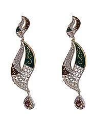 Agarwal Bentex Gold Plated American Diamond Designer Earring For Women - B00ROTSG8S