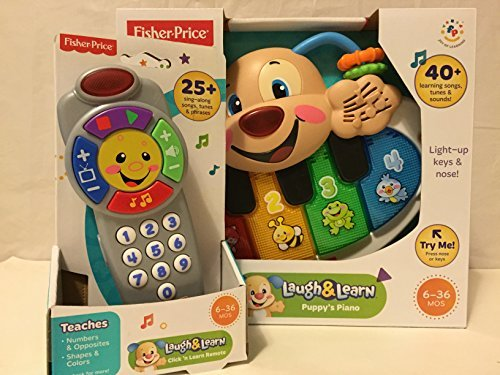 Fisher Price Laugh And Learn Puppys Piano AND Fisher Price Laugh And Learn Click N Learn Remote
