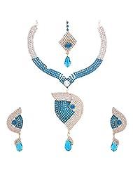 Nimble Multi Colour Metal Choker Necklace Set For Women