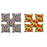 10 Pc -meSleep Bird And Flower Design Digitally Printed Cushion Cover (16 X 16 Inch)