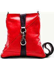 Twach Party Cross Body Leather Bag (Red)
