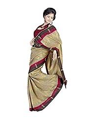 Meher Silk Printed Saree (SD18169_Beige)