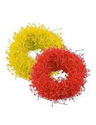 Sarah Yellow And Red Rubber Band Set For Women