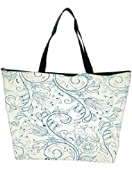 Snoogg Floral Hand Drawn Background Waterproof Bag Made Of High Strength Nylon