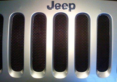Jeep Wrangler JK BLACK Mesh Grille Insert Kit 07-12