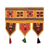 Classic Toran Yellow Cotton Floral Patch Work Toran For Home Décor By Rajrang
