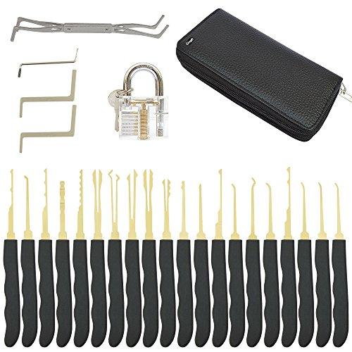 [ 24er Set + Schlössern ] GIMARS Dietrich werkzeug Lockpicking Pick Set mit Schlössern thumbnail