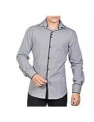 Dazzio Men's Slim Fit Cotton Casual Shirt - B00MNCVSOA